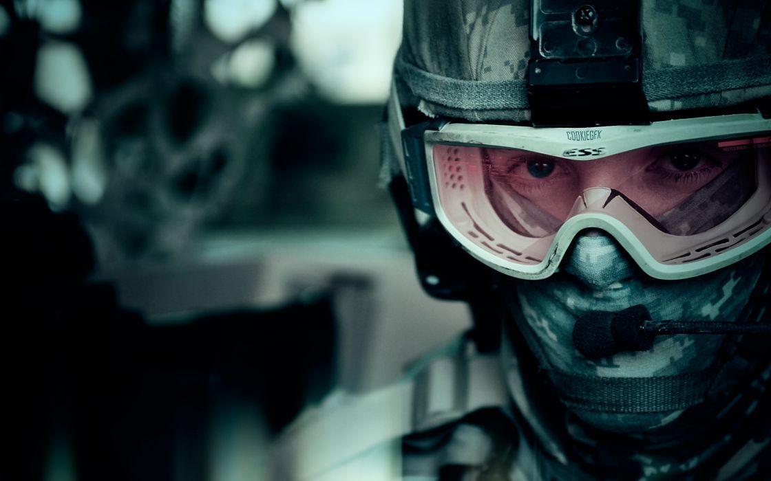 Uniforms army men glasses helmets wallpaper