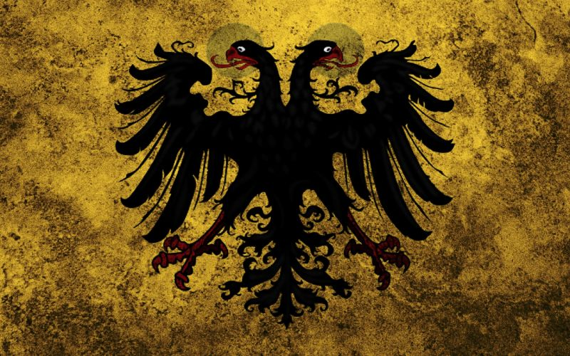 Grunge russian austria eagles flags two headed eagles holy roman empire wallpaper