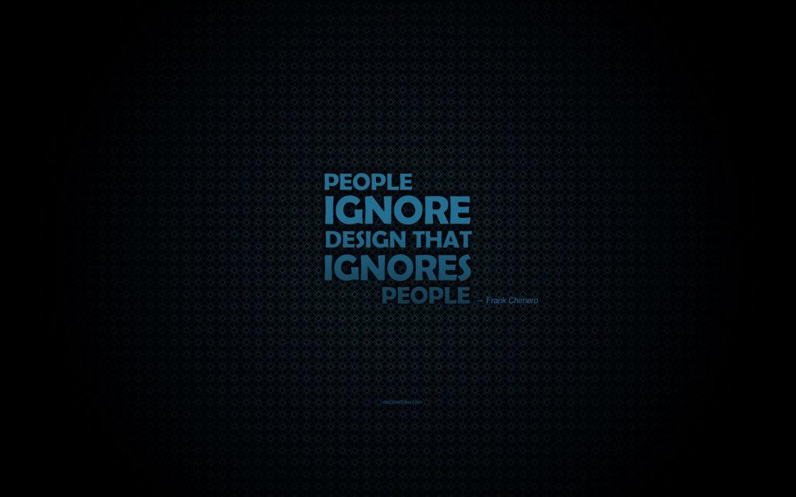 Design people typography wallpaper