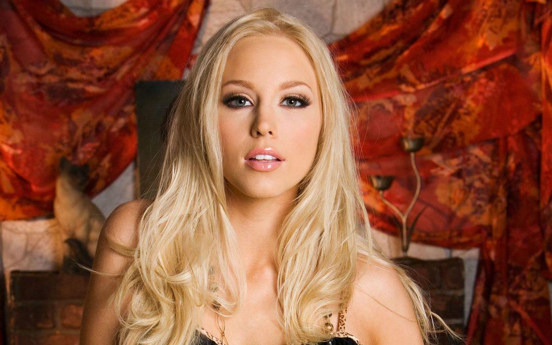 Blondes women brea bennett faces wallpaper