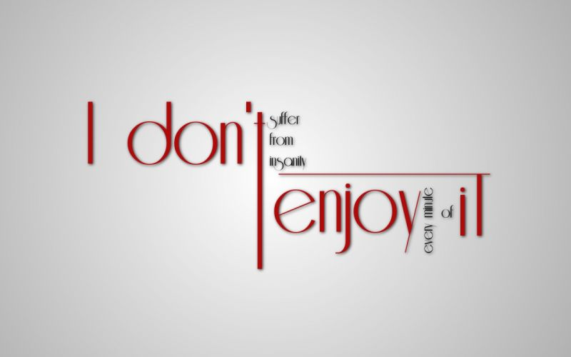 Minimalistic text quotes typography white background wallpaper