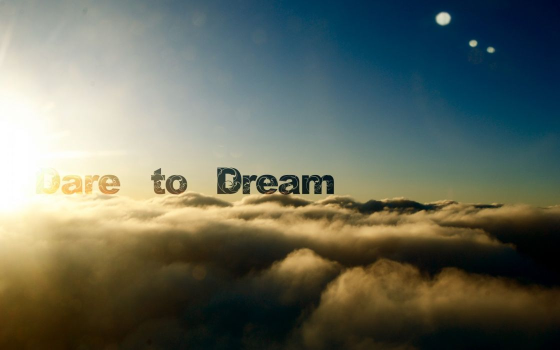 Clouds text dreams skyscapes photomanipulations wallpaper
