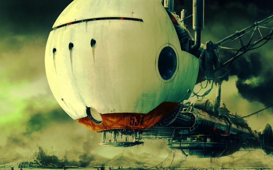 Space station digital art artwork wallpaper