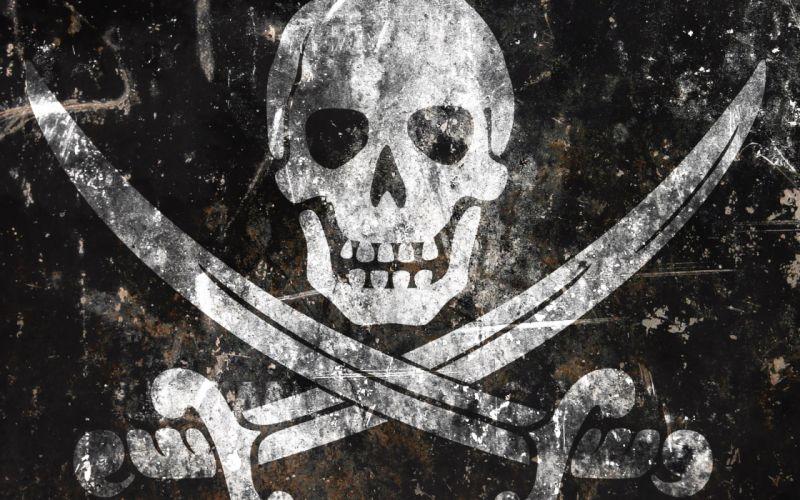 Skulls black pirates wallpaper