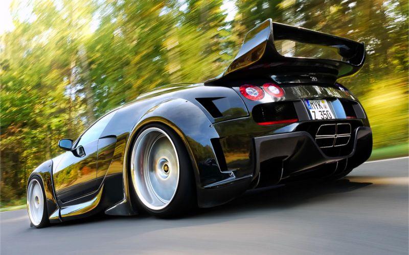 Cars bugatti veyron vehicles supercars black cars low-angle shot wallpaper
