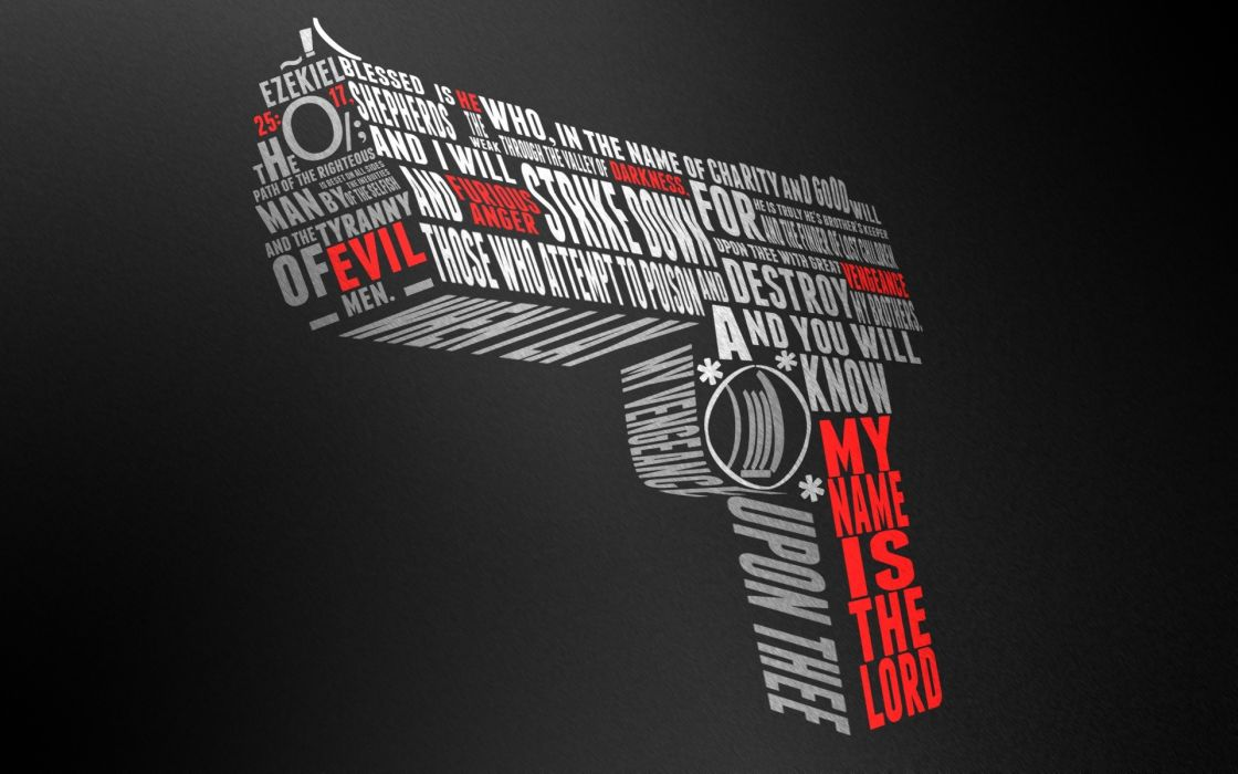 Pistols guns text pulp fiction quotes typography text only ezekiel wallpaper