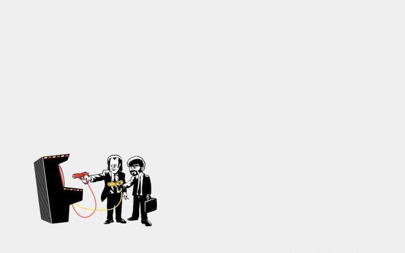 Minimalistic pulp fiction afro wallpaper