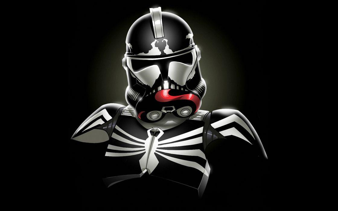 Star wars minimalistic stormtroopers venom spider-man marvel comics wallpaper