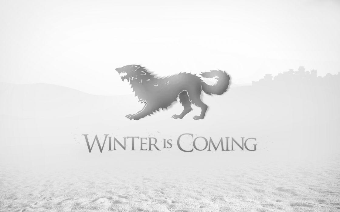Game of thrones a song of ice and fire tv series winter is coming direwolf house stark wolves wallpaper