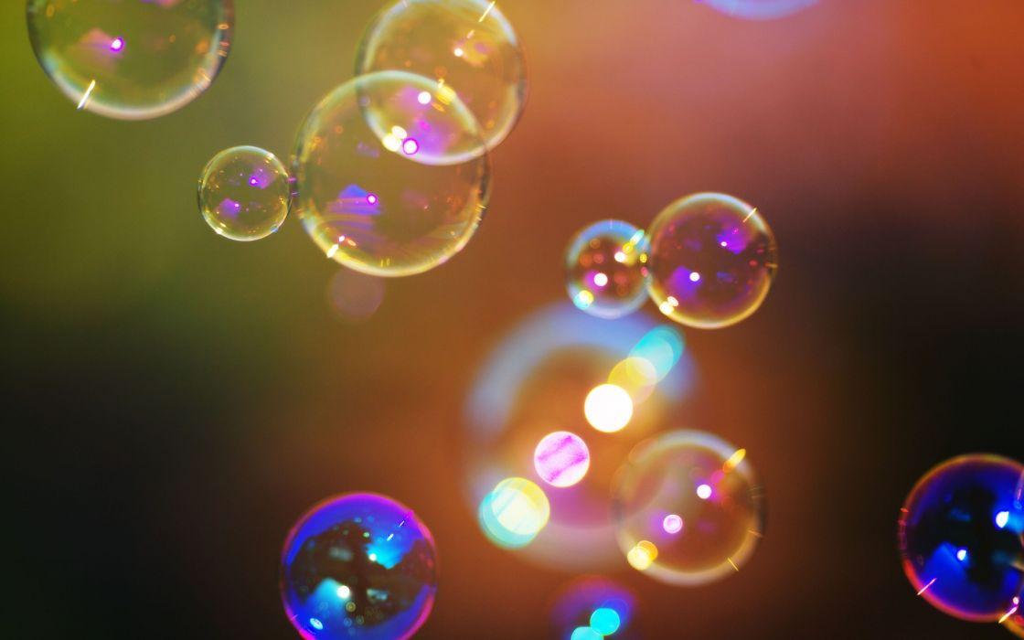 Multicolor bubbles macro wallpaper