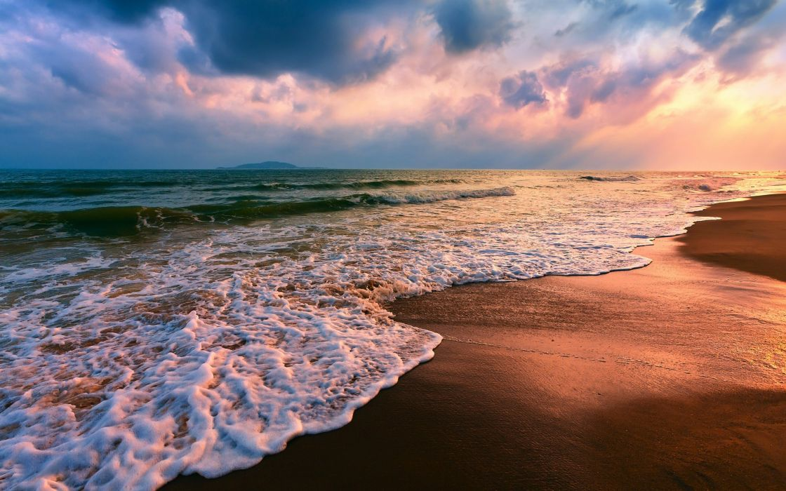 Beach sand shore seascapes wallpaper