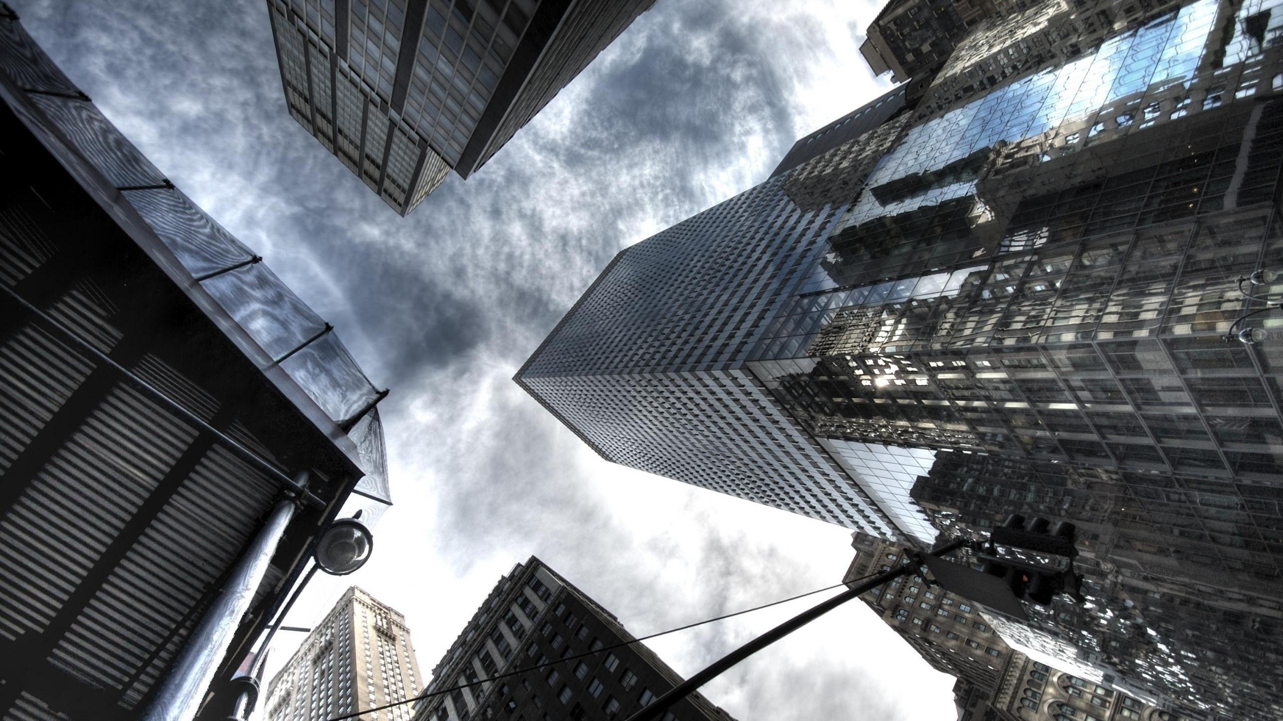 Clouds Cityscapes Architecture Buildings Skyscrapers Wallpaper