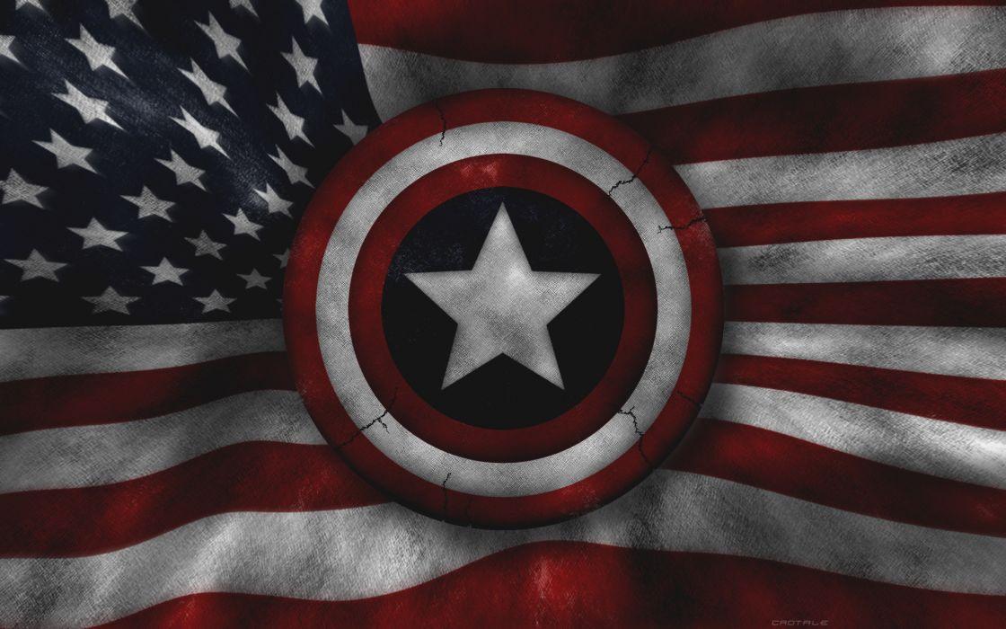 Captain america marvel comics american flag wallpaper
