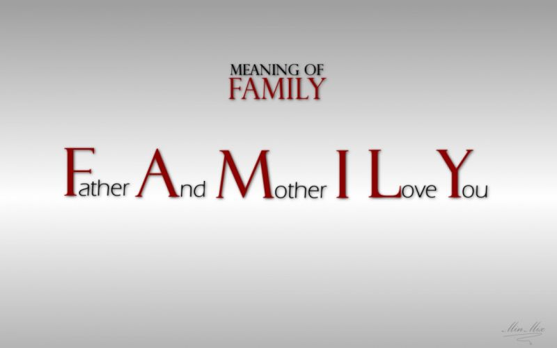 Text family quotes typography wallpaper