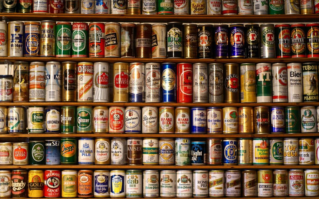 Beers water old liquid alcohol heineken courage tin poland danish switzerland carlsberg anchors australian british drunk german drinks french antique shop jupiler foster's stella artois hoegaarden kaiser wallpaper