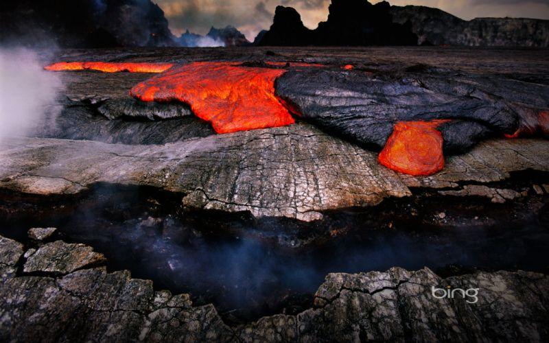 Landscapes lava wallpaper