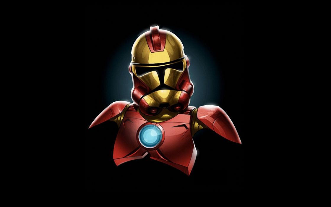 Star Wars Minimalistic Iron Man Stormtroopers Marvel Comics