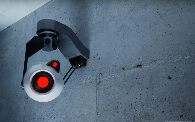 Video games portal glados cameras security wallpaper