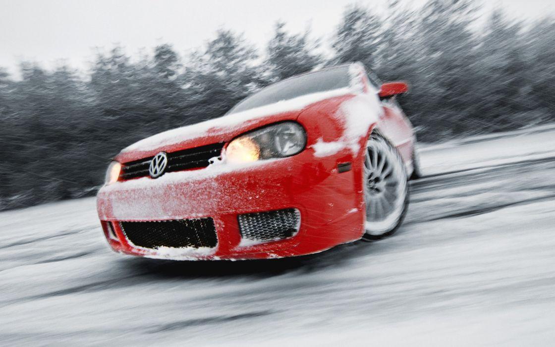 Snow cars  volkswagen wallpaper