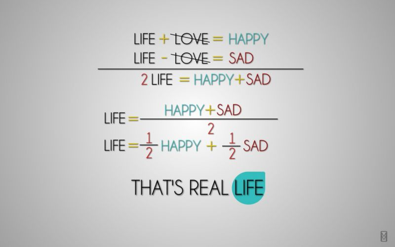 Text life equations wallpaper