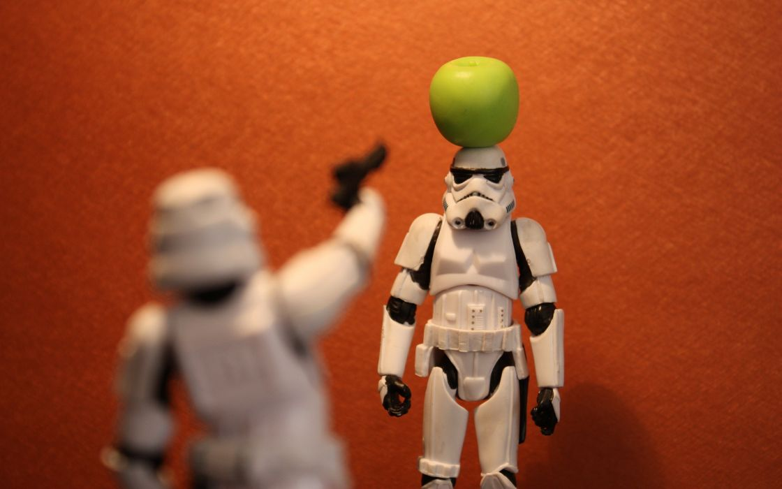 Star wars stormtroopers funny toys miniature apples wallpaper