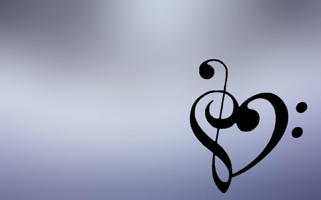 Music hearts wallpaper