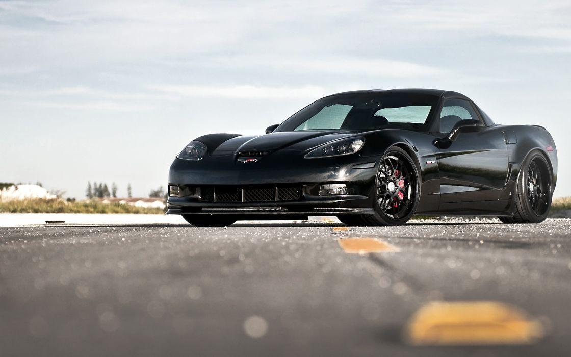 Cars vehicles chevrolet corvette black cars wallpaper