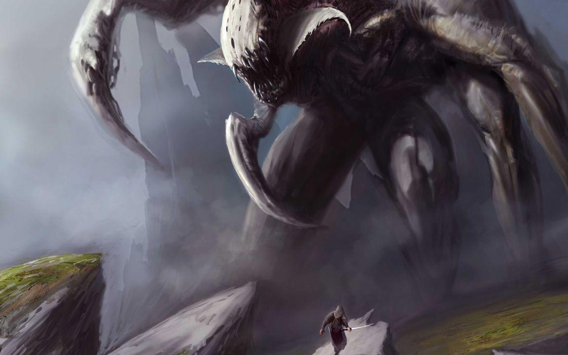 Monsters fantasy art artwork wallpaper