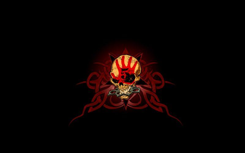 Skulls death fingers logos wallpaper