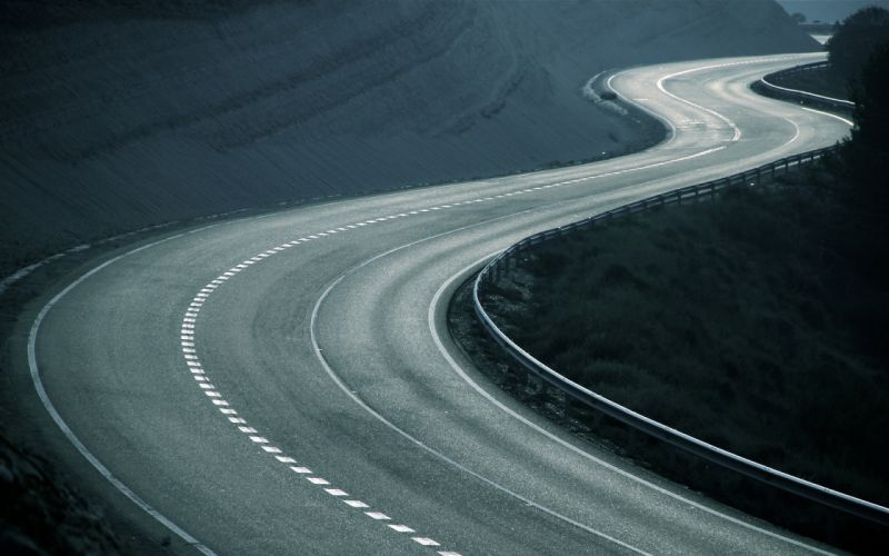 Landscapes roads zig zag wallpaper