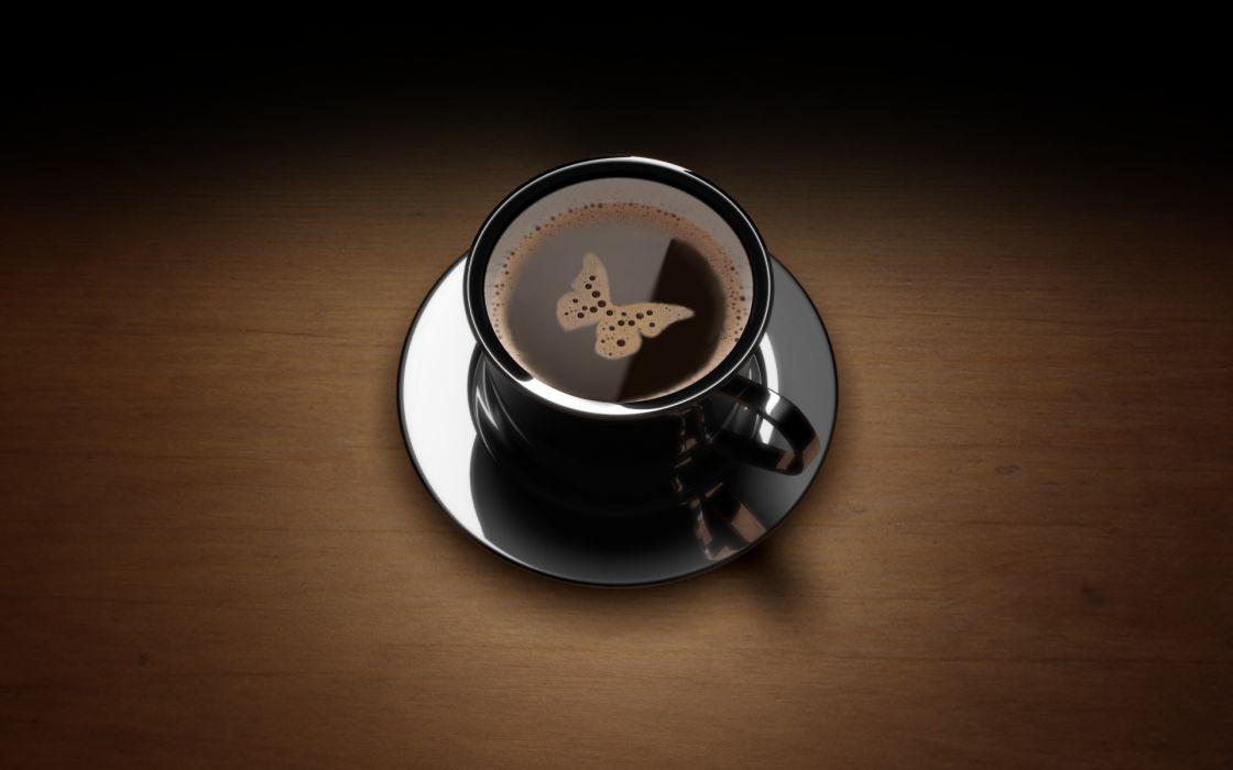 Butterfly coffee mug wallpaper