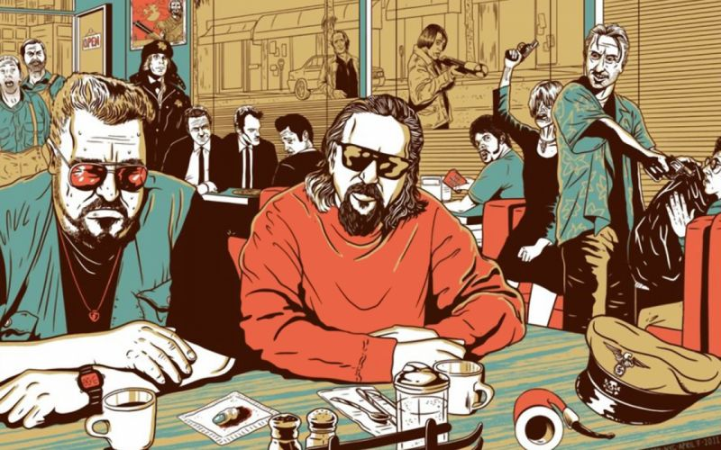 Reservoir dogs the big lebowski no country for old men fargo inglorious basterds wallpaper