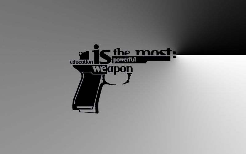 Weapons typography education wallpaper