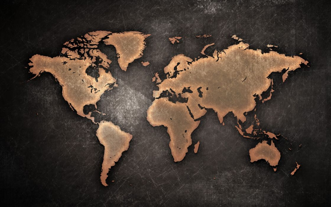 Earth scratches maps continents cartography wallpaper
