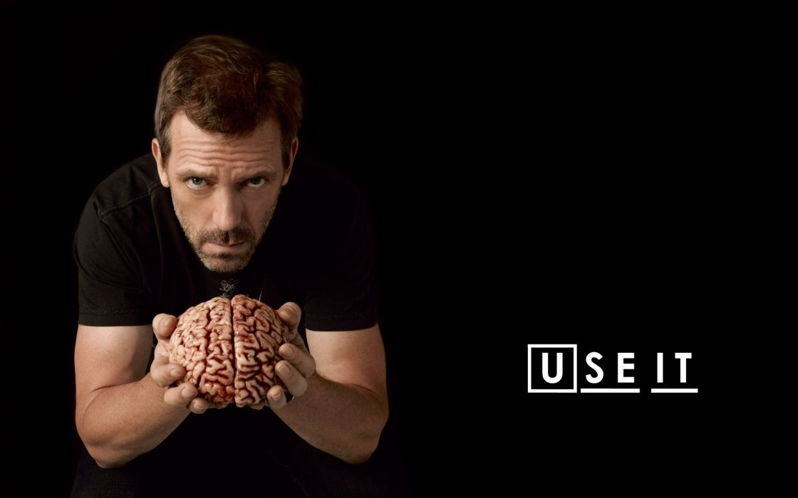 Dark brain hugh laurie gregory house house m_d wallpaper
