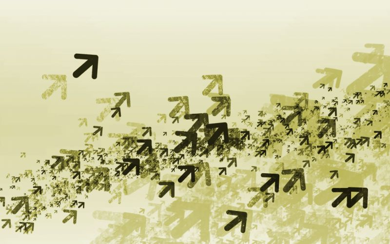 Abstract swarm flock fly arrows simple wallpaper