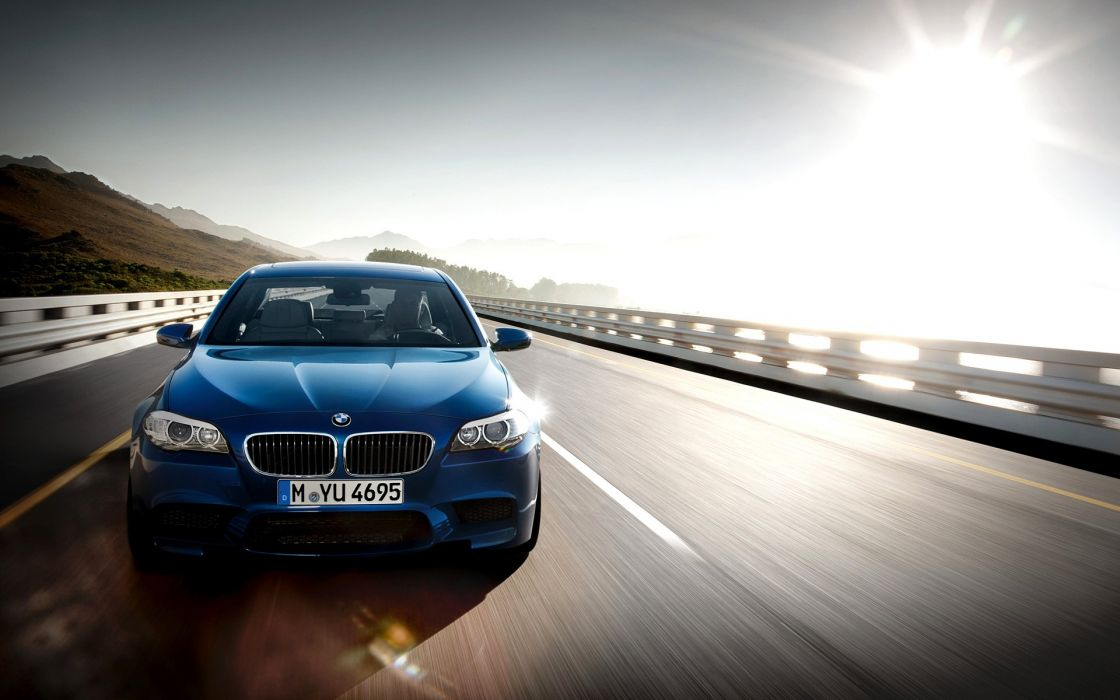 Bmw cars roads bmw m5 blue cars wallpaper