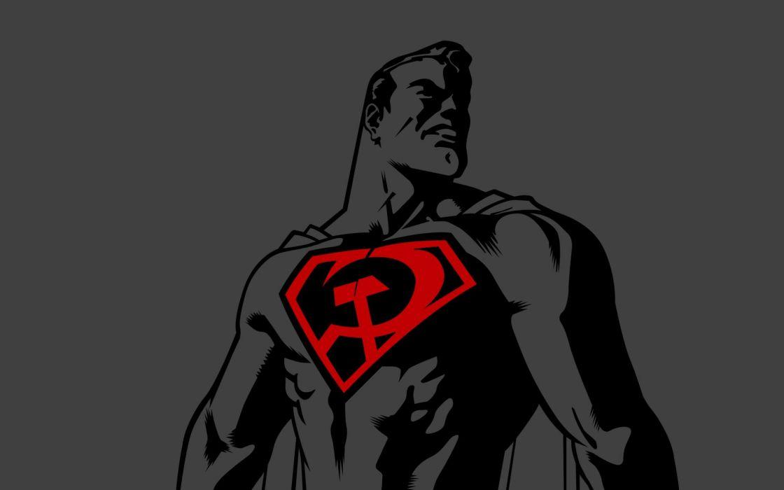 Dc comics superman soviet symbol political red son superman wallpaper