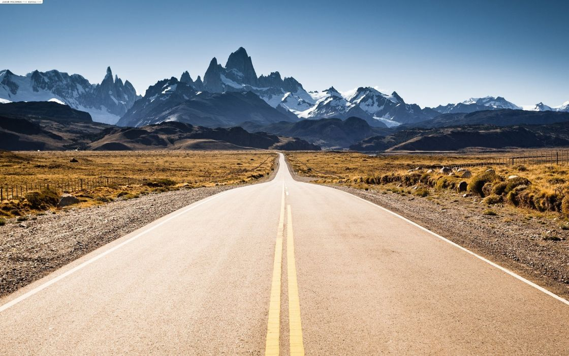 Mountains nature roads windows 8 fitz roy wallpaper