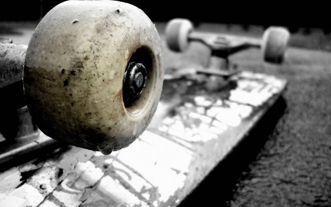 Skateboards vehicles wheels objects asphalt wallpaper