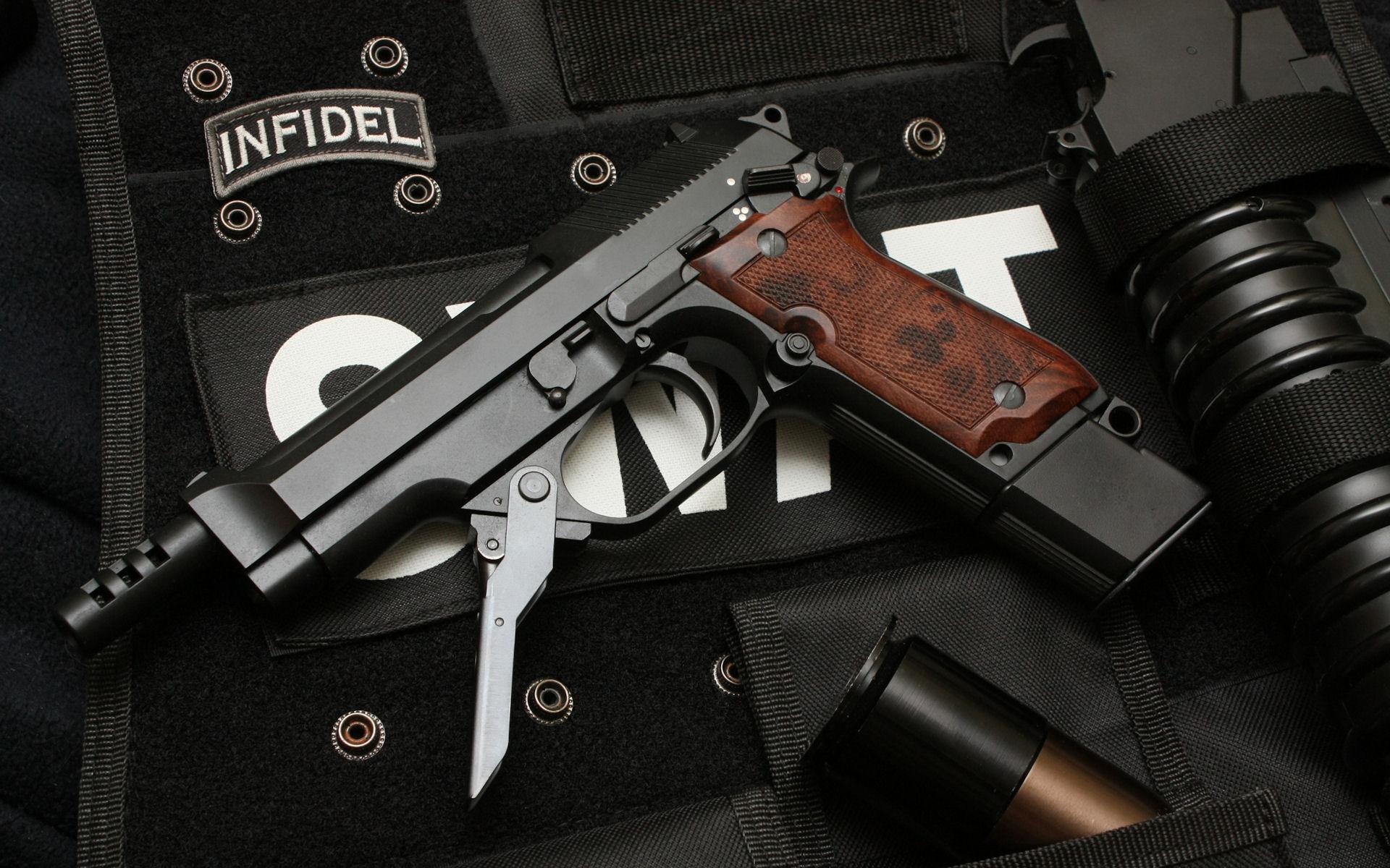 Guns Swat Weapons Handguns Beretta 93r Wallpaper