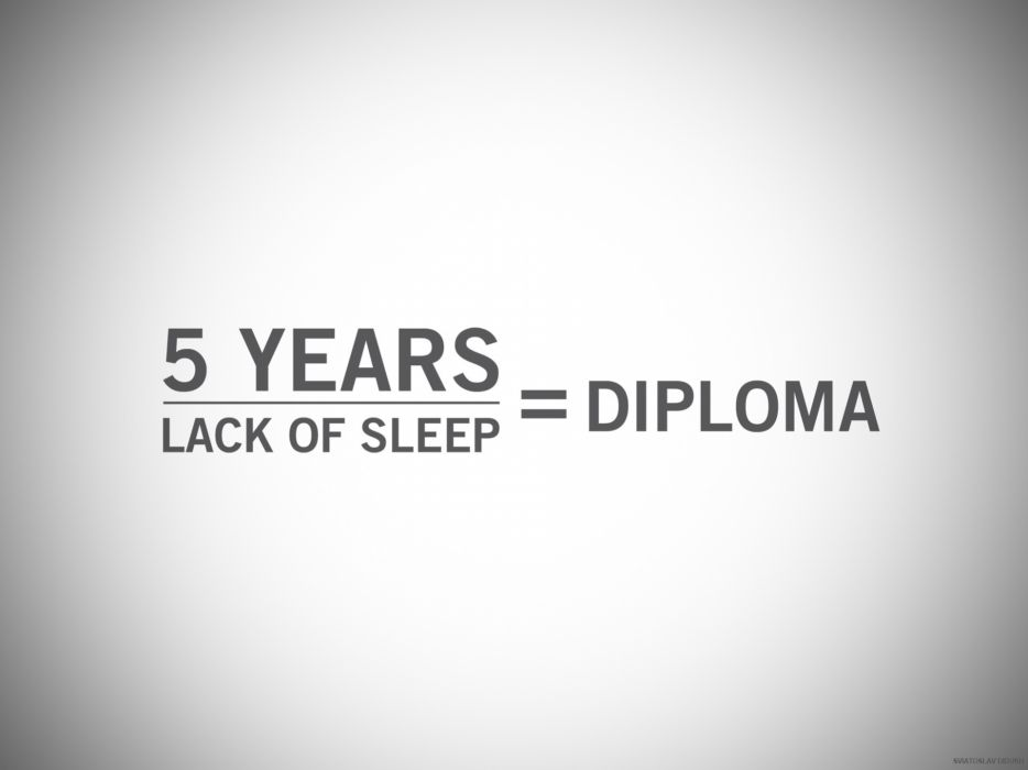 Minimalistic typography education sleeping text only definition diploma wallpaper