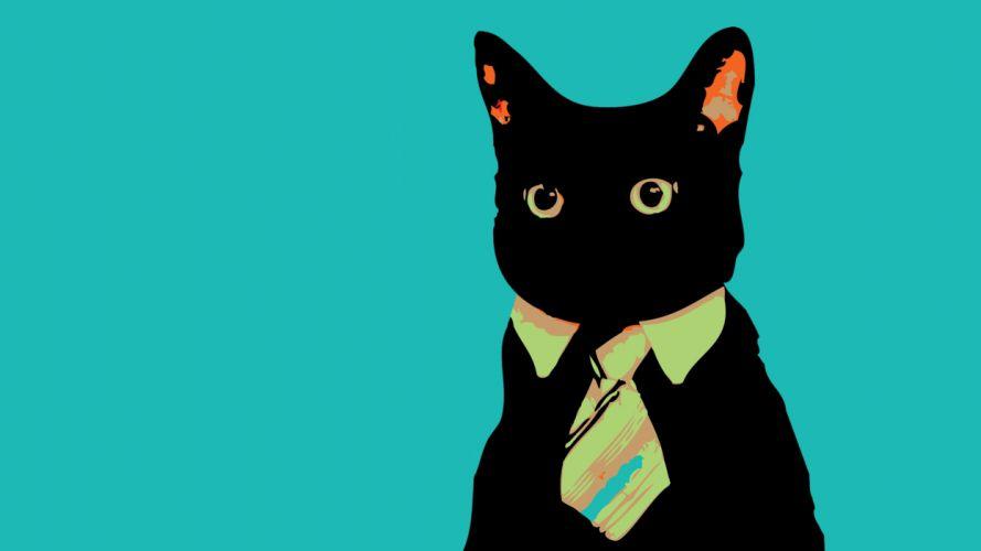 Cats animals vector tie meme business business cat wallpaper