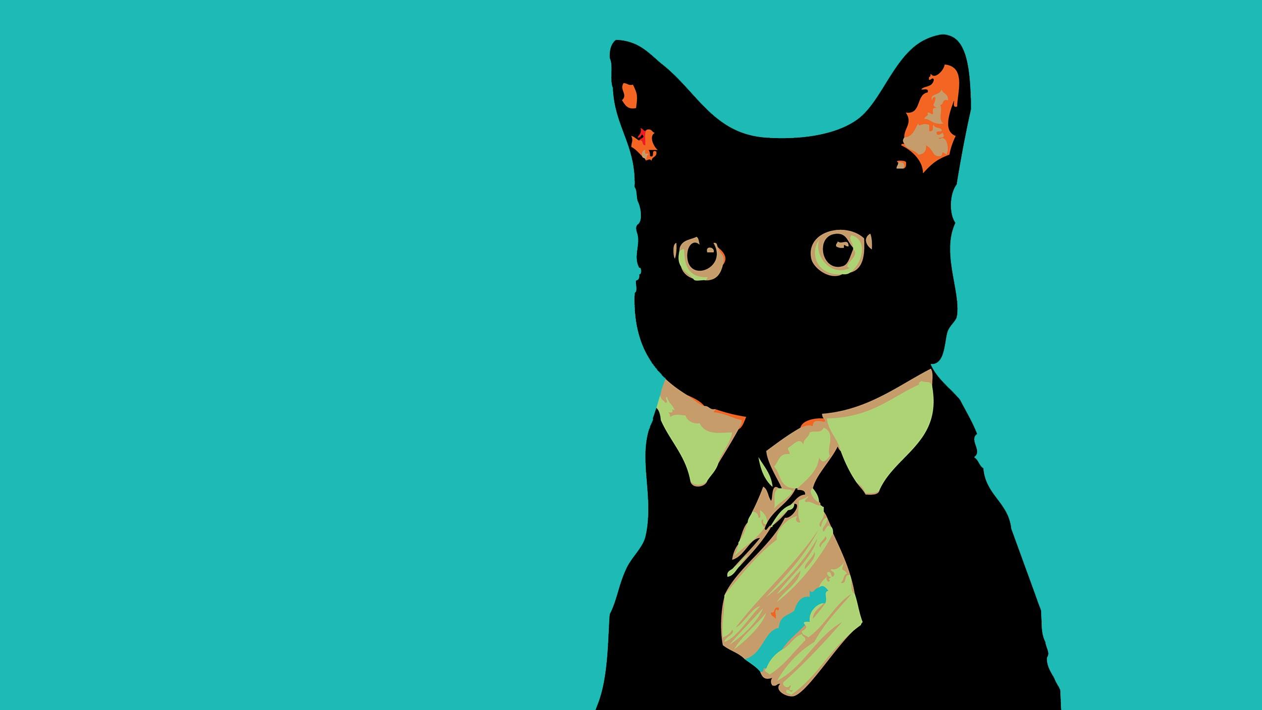 Cats animals vector tie meme business business cat ...