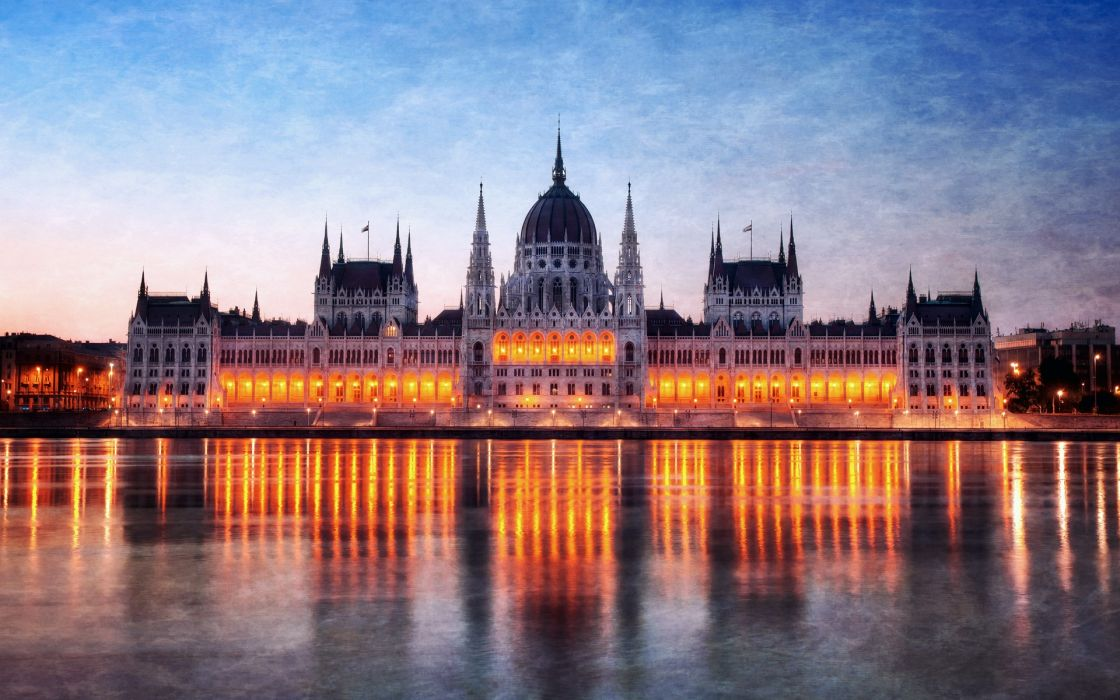Hungary budapest citylights parliament houses cities wallpaper