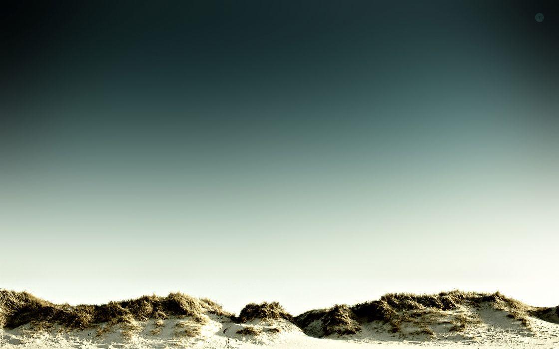 Beach sand dunes wallpaper