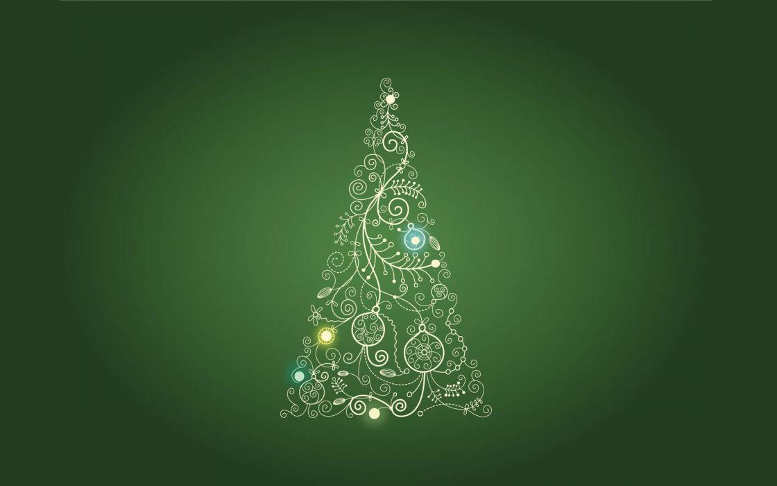 Green christmas trees holidays wallpaper