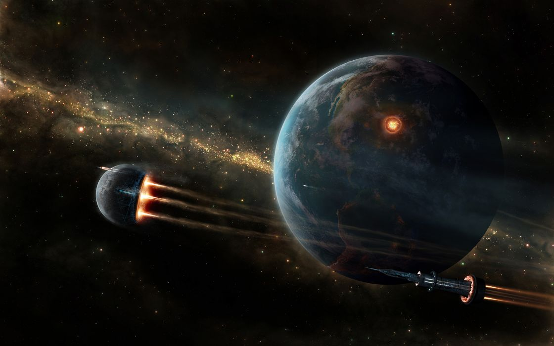 Wall622967-outer space planets wallpaper