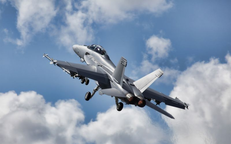 Clouds aircraft scenic vehicles f-18 hornet aviation skyscapes wallpaper