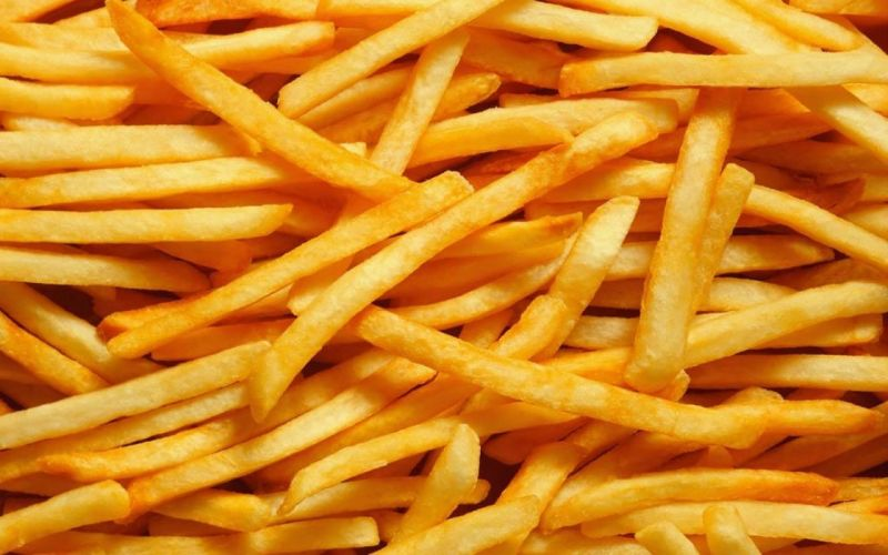 Yellow food french fries potatoes fried upscaled wallpaper